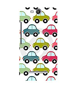 printtech Car Pattern Back Case Cover for MICROMAX CANVAS JUICE 3