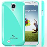 Caseology Samsung Galaxy S4 [Retro Flex Series] - Slim Fit TPU Protector Shock Absorbent Bumper Case (Turquoise / Mint) [Made in Korea] (for Verizon, AT&T Sprint, T-mobile, Unlocked)