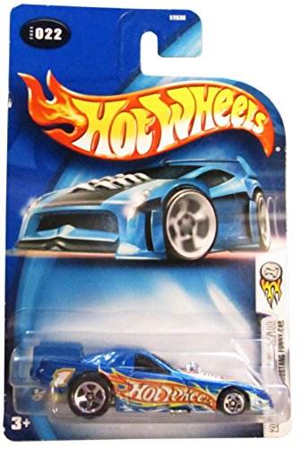 Mattel Hot Wheels 2004 First Editions 1:64 Scale Blue Mustang Funny Car Die Cast Car 22/100 #022 - 1