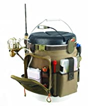 Wild River by CLC WT3507 Tackle Tek Rigger Lighted Bucket Organizer with Plier Holder and Two PT3500 Trays