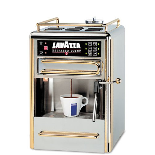 Lavazza - One-Cup Espresso Beverage System, Chrome/Gold Stainless Steel 80114 (Dmi Ea