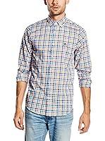 POLO CLUB Camisa Hombre Academy Sport Slim (Azul / Amarillo)