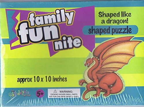 Family Fun Nite Shaped Puzzle - Dragon - 1