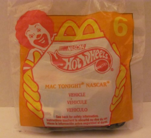 Mattel HOT WHEELS - McDONALDS Happy Meal TOY Die Cast CAR - MAC TONIGHT NASCAR #94 - Bag #6 - 1998 / China (Comes in Original UNOPENED Bag) / *For Children Age 3 and Over / May Contain Small Parts* - 1