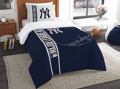 The Northwest Company Northwest MLB Ny Yankees Twin Comforter & Sham