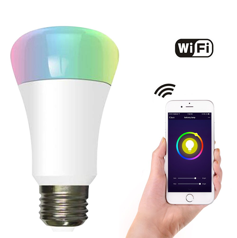 E27/E26 Smart LED Light Bulbs, CXY WiFi APP-Smartphone controlled ...