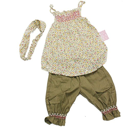 Baby Girls 3pcs Clothing Sets Headband+Top+Shorts Floral Print Outfit Clothes