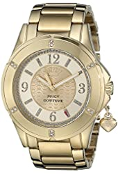 Juicy Couture Women's 1901200 Rich Girl Analog Display Quartz Gold Watch