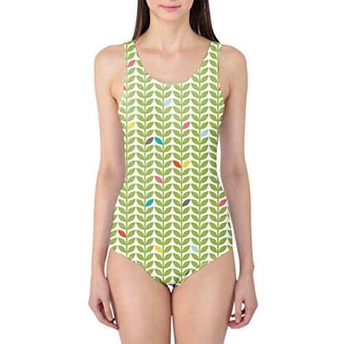 Queen of Cases Sixties Mod Flowers Women's Swimsuit - 3XL Badeanzug XS-3XL