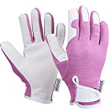 eBoot Women Gardening Gloves Garden Work Gloves for Garden and Household Tasks, Pink (Large Size)