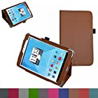 Mama Mouth Folio 2-folding Slim Fit Stand Case Cover For 7.85 Trio AXS 4G 3G Android Tablet Brown