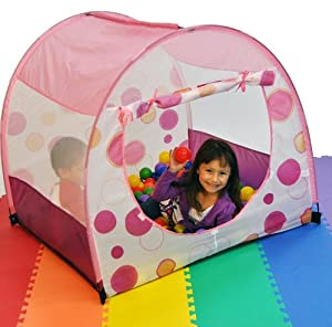 SALE Clearance: Princess Fairy Tale Pink Play Ball Tent w/ Carry Tote from eWonderWorld