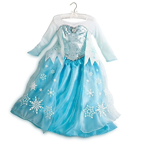 Disney Store Frozen Princess Elsa Costume Size Large 9/10