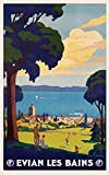 Evian Les Bains Poster Print (91.44 x 60.96 cm)