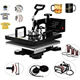 VEVOR Heat Presses 15 X 15 Inch 8 in 1 Digital Multifunctional Sublimation T Shirt Heat Press Machine 360 Degree Rotation HeatPress Machine for T shirts Hat Mug Plate (8in1 15X15Inch Auto-Countdown)