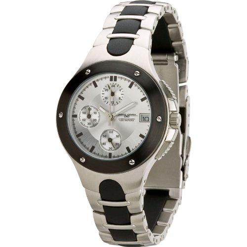 Jorg Gray JG1800-12L - Reloj analógico de cuarzo para mujer, correa de acero inoxidable color plateado