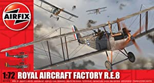 Airfix A01076 1:72 Scale Royal Aircraft Factory RE8 Military Aircraft Classic Kit Series 1 by Hornby