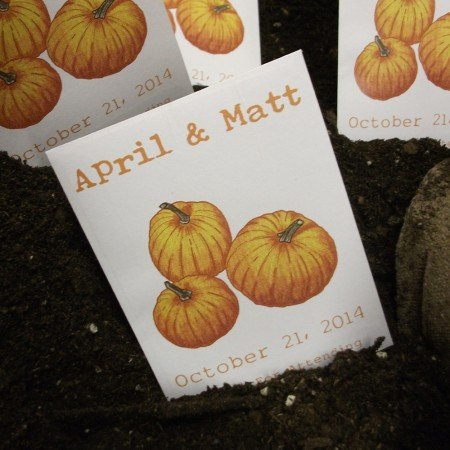 Personalized Seed Packet Favors - Pumpkins