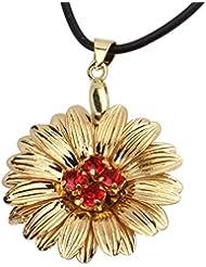 Aarya 24kt Pure Gold Foil Floral Pendant