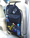 2 x Kabalo Universal Back Seat Car Organiser with Drinks / Umbrella Holder and 7 separate velcro sealed storage compartments. Height 55cm x Width 36cm