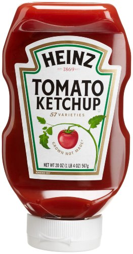 Heinz Tomato Ketchup 20 Ounce Easy Squeeze Bottles Pack of 6