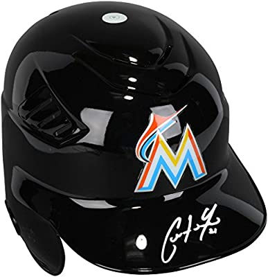Christian Yelich Miami Marlins Autographed Cool Flo Batting Helmet - Fanatics Authentic Certified - Autographed MLB Helmets