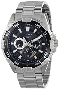 Casio Men's MTD-1069D-1AVDF Divers Analog Display Quartz Silver Watch