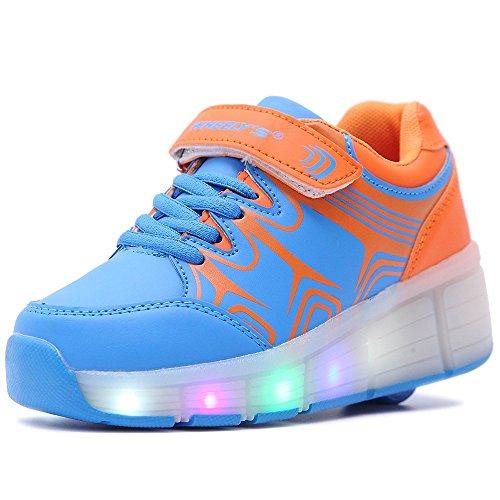 HUSK'SWARE Led Shoes Unisex Bambini Scarpe Kinder Ragazzo ragazza con Rotelle Forma Sportive Pattini Con le Ruote