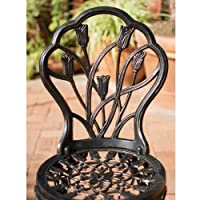 Best Selling Nassau Cast Aluminum Outdoor Bistro Furniture Set, Brown from Best