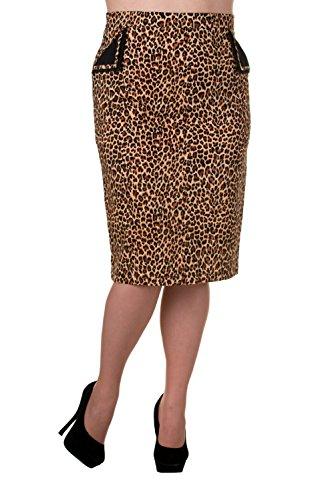 Banned-Tori-Vintage-Leopard-Print-Black-or-Red-Pencil-Skirt-Plus-Sizes