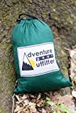 Adventure Gear Outfitter Backpacking Hammock with Mosquito Net and Free Tree Straps. Ultralight And Strong Ripstop Nylon Single Camping Hammock.