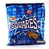 Walkers Squares Salt and Vinegar 6 Pack 150g