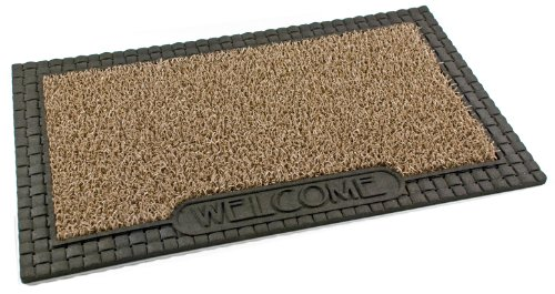 Clean Machine Country French 18-Inch by 30-Inch Doormat, Taupe
