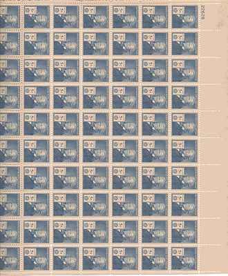 Elias Howe Sheet of 70 x 5 Cent US Postage Stamps NEW Scot 892