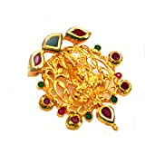 Anvi's rubies and emeralds lakshmi pendent