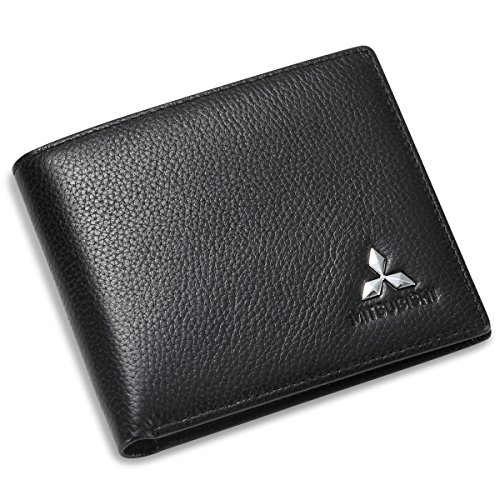 mitsubishi-bifold-wallet-with-3-card-slots-and-id-window-genuine-leather