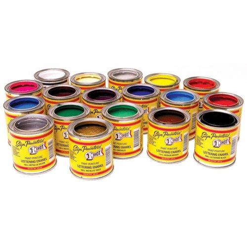 One Shot Pinstriping Paint Deluxe Color Kit - 1 Shot