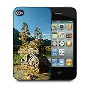 Snoogg Pond With Rocks Designer Protective Phone Back Case Cover For Apple Iphone 4