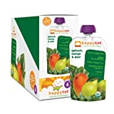 Happy Tot Organic Baby Food, Stage 4.22 Ounce, Spinach, Mango and Pear, 4.22-Ounce Pouches (Pack of 16)