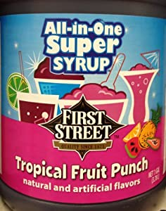 Amazon.com : First Street All-In-One Super Syrup, Tropical Fruit Punch ...