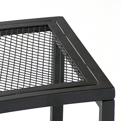sunnydaze black mesh patio side table 23 x 16 inch 1 table