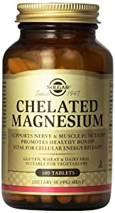 Solgar Chelated Magnesium Tablets - 100 tablets