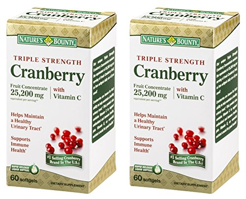 Natures-Bounty-Triple-Strength-Cranberry-25200mg-with-Vitamin-C-120-Softgels-2-X-60-Count-Bottles