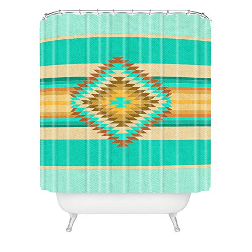 Deny Designs Bianca Fiesta Teal Shower Curtain front-385669