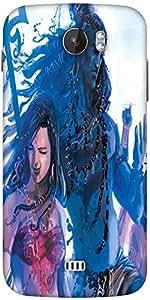 Snoogg Kali Goddess Shiva 2874 Designer Protective Back Case Cover For Micromax A110