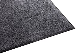 Guardian Platinum Series Indoor Wiper Floor Mat, Rubber with Nylon Carpet, 5\'x8\', Grey