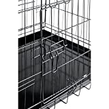 """PayLessHere 42"""" XXL Dog Crate W/Divider Double-doors Folding Metal Dog Cage w/ Free Tray"""