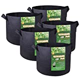 VIVOSUN 5-Pack 10 Gallons Fabric Pots Grow Bags with Handles