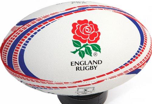 Gilbert Men's England Rugby Memorabilia Ball, Size 4
