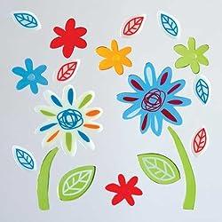 GelGems Outline Flowers Small Bag Gel Clings